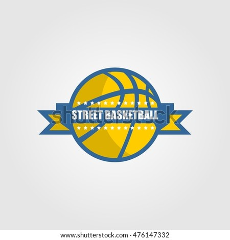 Modern professional vector logo for a basketball team. Vector Illustration. Flat Style Design