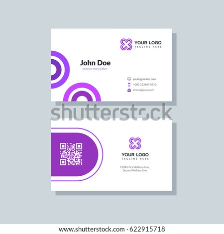 Modern purple business card template flat stock photo photo vector modern purple business card template in flat design abstract background personal plain design with colourmoves Image collections