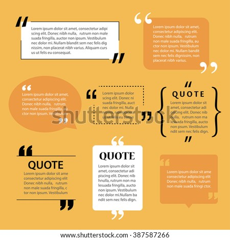 modern quote text template design elements - stock vector