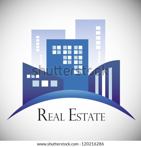 Modern real estate buildings design - stock vector
