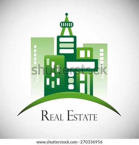 Modern real estate buildings design. - stock vector