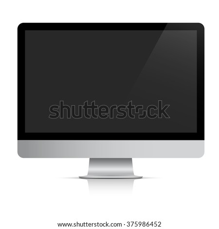 Modern realistic computer monitor. Vector EPS10