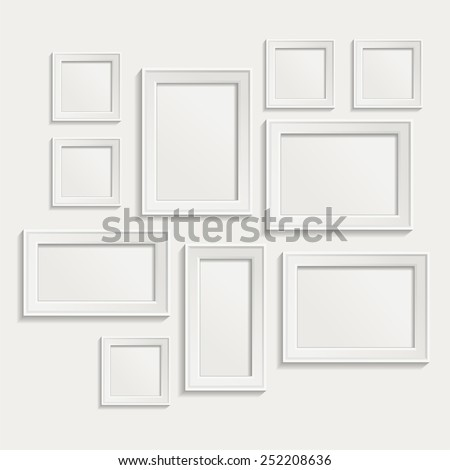 Modern realistic frame on a white background - stock vector