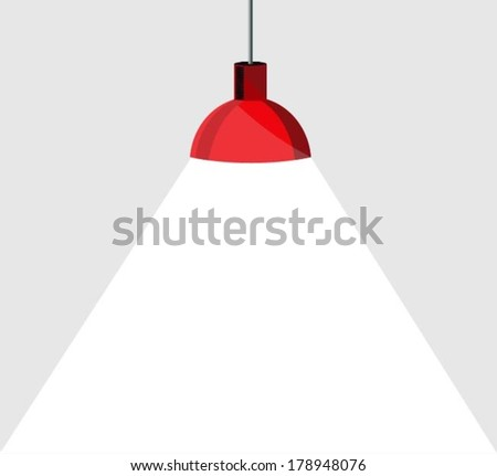 Modern red hanging lamp
