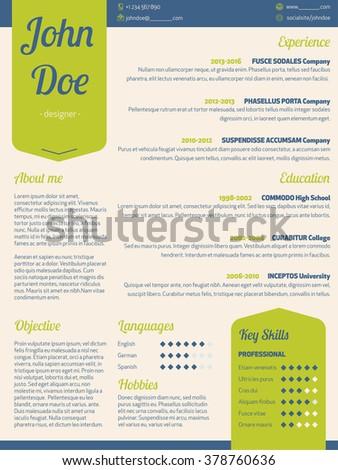 curriculam vitae templates