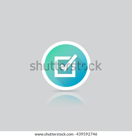 Modern Round Check Box or List Icon - stock vector