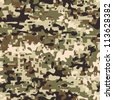 Modern seamless digital multi terrain pattern camouflage - stock photo