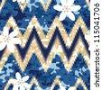 Modern seamless Hawaiian camouflage shirt background pattern - stock vector