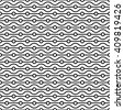 Modern seamless pattern. Vertical arrangement of geometric shapes. Repeating abstract background. Small circles and wavy linear grid. Graphic backdrop. Black and white texture. Vector graphic template - stock photo