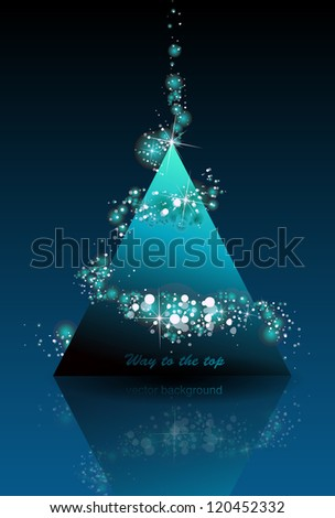 Modern shine glossy vector top triangle, pyramid