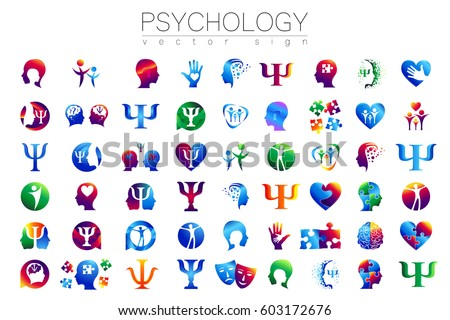 Psychology stock images royalty free images vectors shutterstock modern 54 sign logo set of psychology profile human creative style symbol in thecheapjerseys Image collections