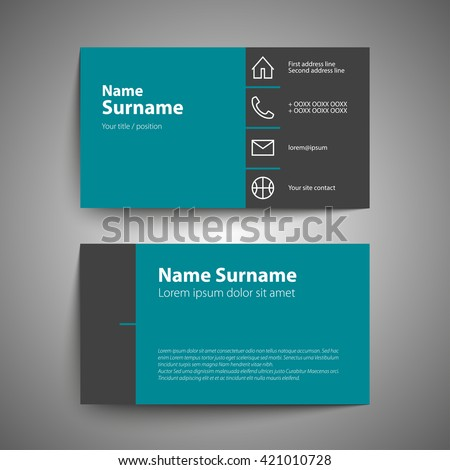 Modern simple business card set template stock vector 421010728 modern simple business card set template or visiting card vector illustration colourmoves