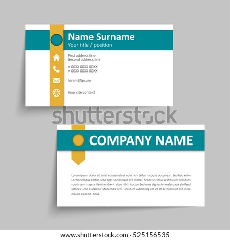 Modern simple business card set template stock vector 2018 modern simple business card set template or visiting card vector illustration reheart Images