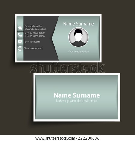 Modern simple business card template vector format stock vector