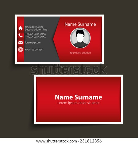 Modern simple business card template. Vector format. - stock vector