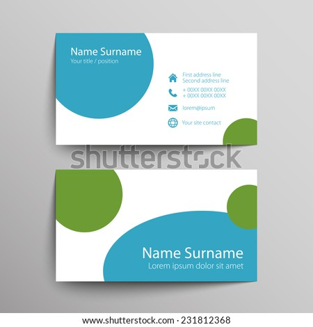 Modern simple business card template vector stock vector 231812368 modern simple business card template vector format colourmoves