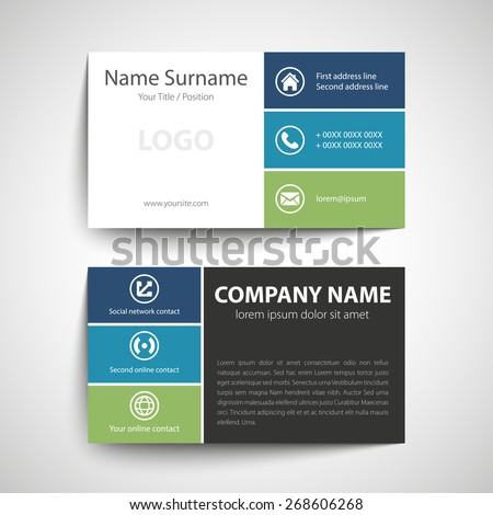 modern simple business card template vector stock vector royalty