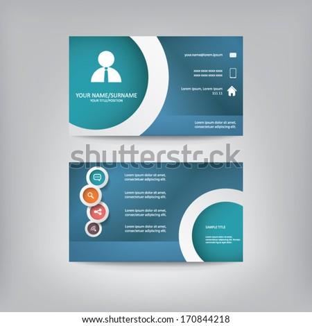 Modern simple business card template elegant stock vector 2018 modern simple business card template with elegant flat design eps10 vector illustration reheart Image collections