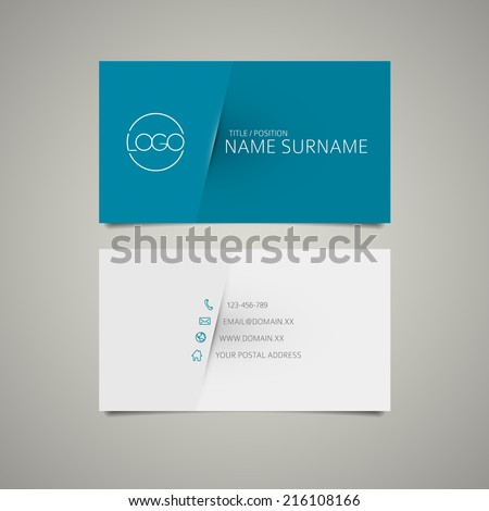 Modern simple business card template with place for your company name - stock vector