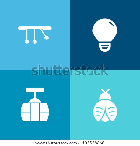 Modern, Simple Vector Icon Set On Colorful Background With Transport,  Cable, Electric,