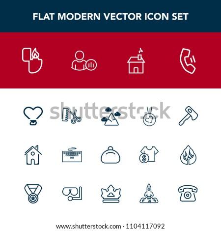 Modern Simple Vector Icon Set Computer Stock Vector Royalty Free