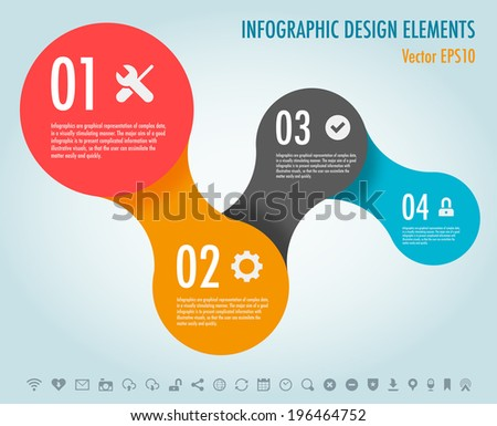Modern Simply infographic step by step template ,Vector illustration. can be used for workflow layout, diagram, number options, step up options, web template, infographics - stock vector