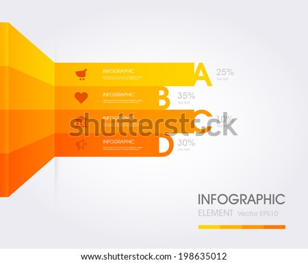Modern Simply infographic template ,Vector illustration. can be used for workflow layout, diagram, social media plan , business plan, web template, infographics - stock vector