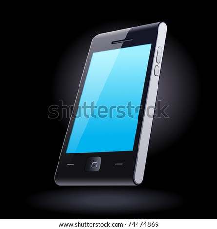 Modern smart-phone designed by myself - stock vector