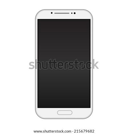 Modern smart phone isolation vector - stock vector