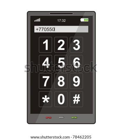 Modern smart phone, vector - stock vector