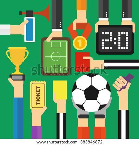 Modern soccer flat design.Vector illustration - stock vector