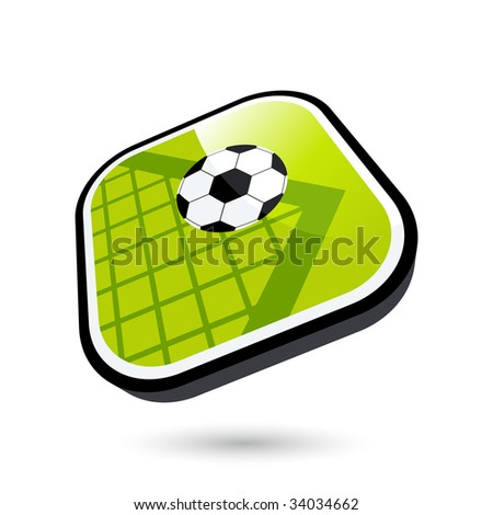 modern soccer sign - stock vector