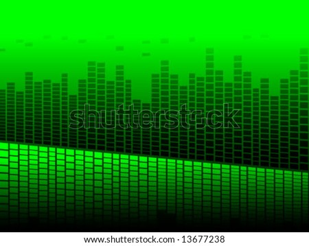 modern sound wave - stock vector