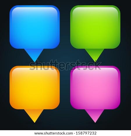 Modern speech bubble icons / concept vectors - stock vector