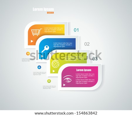 Modern speech bubble template style. Can be used for workflow layout; diagram; number options; step up options; web design; banner template; infographic. - stock vector