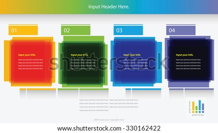 Modern square infographics options banner. Vector illustration. can be used for workflow layout, diagram, number options, web design. - stock vector