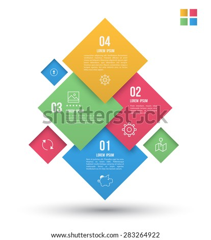 Modern squares design banner. Can be used for Book cover, Graphics, Lay out, Content page.  - stock vector