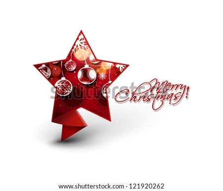 Modern star christmas design, eps10 vector illustration - stock vector