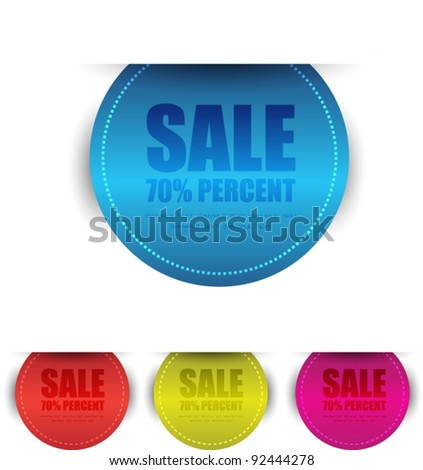 modern stickers or labels - stock vector