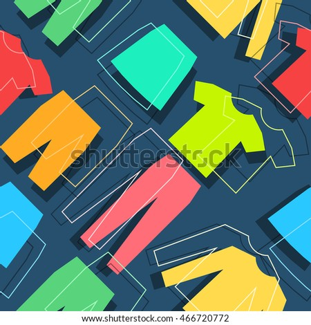 Modern style clothes banner color design. Vector illustration seamless pattern template