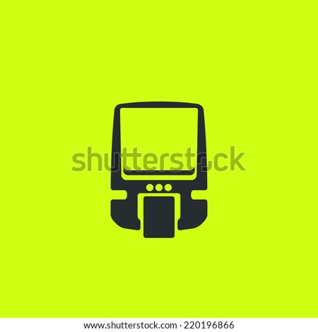Modern style monorail rapid transit. Front view, flat icon. For maps, schemes, applications and infographics.  - stock vector