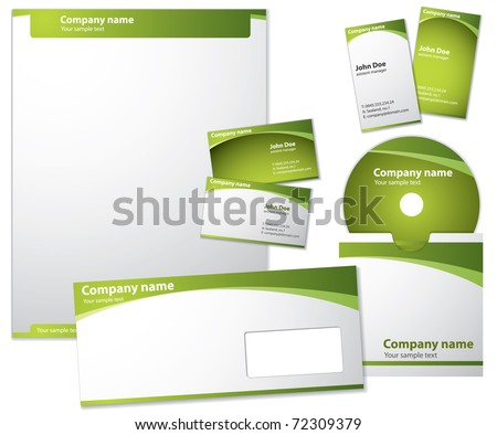 Modern style vector template - stock vector