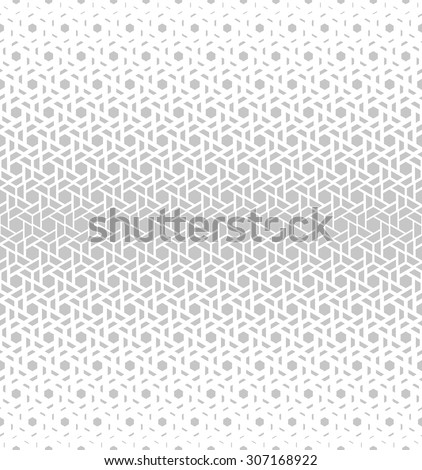 Modern stylish texture of the triangles and hexagons. Vector seamless pattern. Repeating geometric tiles. White and gray texture. - stock vector
