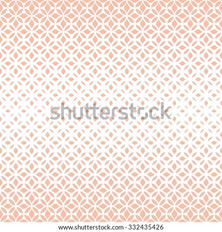 Modern stylish texture with flowers. Seamless vector pattern. Repeating geometric tiles. - stock vector