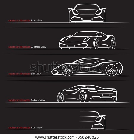 Modern Super Car Sports Car Vector Stock Vector