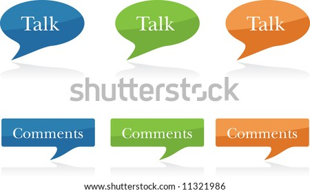 Modern Talk or Comment Bubbles - stock vector