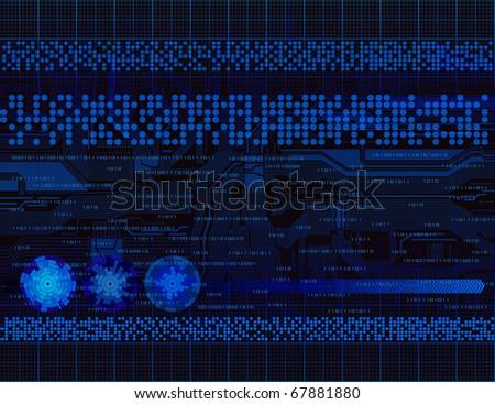 Modern technology theme vector background. Eps10 - stock vector
