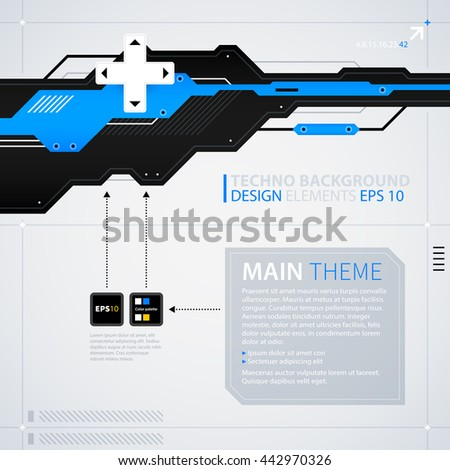 Modern text background template. Futuristic techno business style. Useful for annual reports, presentations and advertising. - stock vector