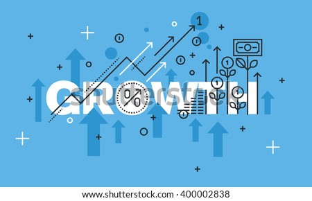 modern thin line design concept growth stock vector