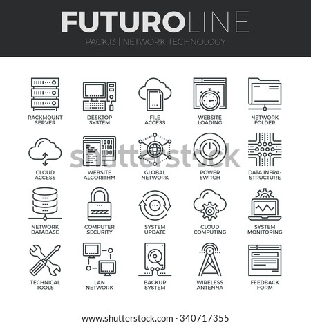 Modern thin line icons set cloud stock vector hd royalty free modern thin line icons set of cloud computing network internet data technology premium quality ccuart Gallery